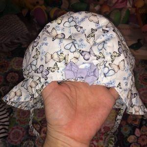 NWOT H&M Sz 9-12M Butterfly Print Sun Hat
